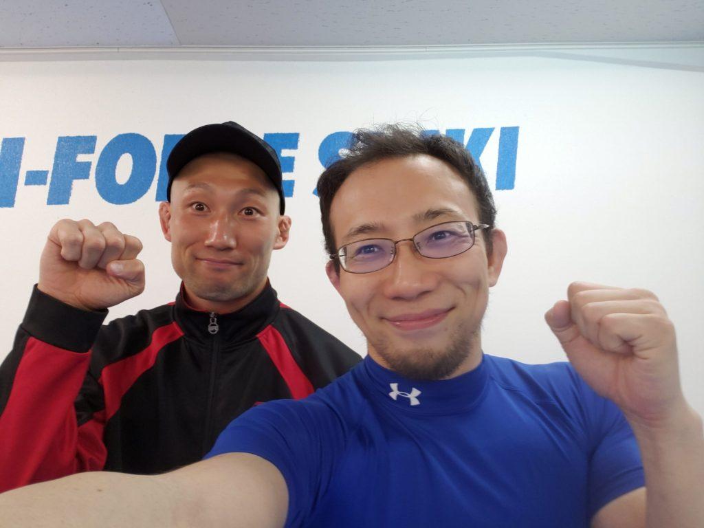 <EarneS代表の藤井先生とTF志木ヘッドインストラクターの杉村>